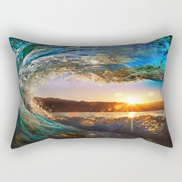 Beach - Waves - Ocean - Sun   Rectangular Pillow