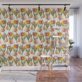 Tulips 1 | Vintage Floral Pattern | Flower Patterns | Wall Mural