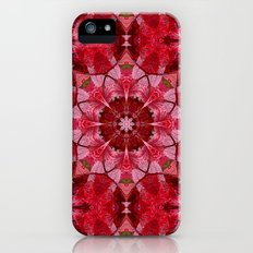 Red autumn leaves kaleidoscope iPhone (5, 5s) Slim Case