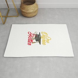 Cute One Degree Hotter College Graduation Day Pun Rug