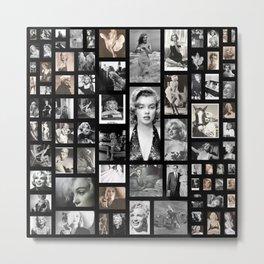 Norma Jean M Monroe Pin Up Girl Collage Metal Print