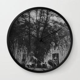 Reach for the sky - Black and white Wall Clock