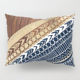 Navy & Gold Tribal on Wood Pillow Sham