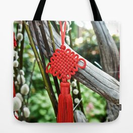 Chinese Knot (Red) Tote Bag
