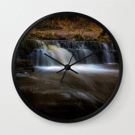Afon Pyrddin waterfall Pontneddfechan Wall Clock