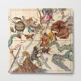Constellation Chart 1693c Metal Print