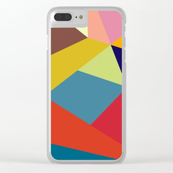 Abstract #277 Clear iPhone Case