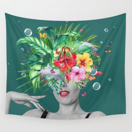 portriat floral Wall Tapestry