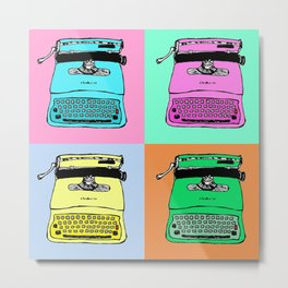 Let's warholize! Olivetti lettera22-style full of color Metal Print