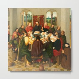 The Last Supper - 15th Century Painting Metal Print