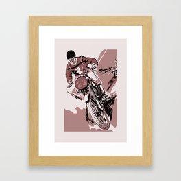 Motocross, the crosser Framed Art Print