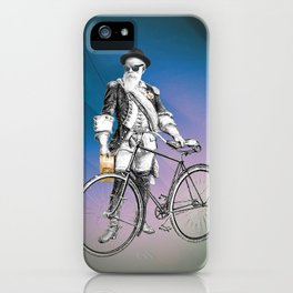 Every weekend I take the fixed gear to the farmers market for Vegan Artisan Granola. iPhone Case