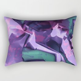 Restless Unicorn. Dynamic Purple and Teal Abstract. Rectangular Pillow
