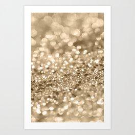 Champagne Gold Lady Glitter #2 #shiny #decor #art #society6 Art Print