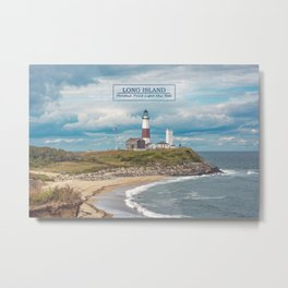 Long Island - Montauk Point Light - New York  Metal Print
