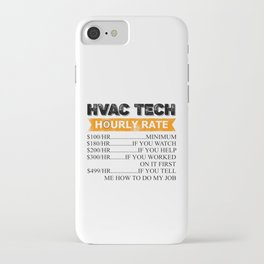 Funny Vintage HVAC Technician Gift HVAC Gift iPhone Case