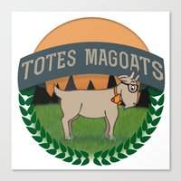 totes Canvas Prints featuring Totes Magoats by LaurenPyles