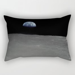 Earthrise From the Moon Rectangular Pillow