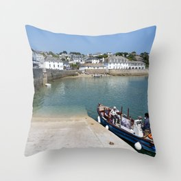 St Mawes Slipway Throw Pillow