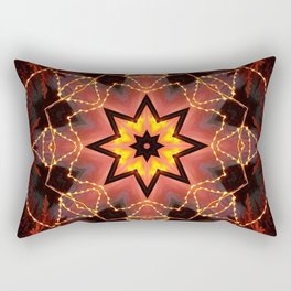 Kaleidoscope fantasy on lights in the shape of a bison! Rectangular Pillow