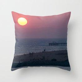 Sunset Over the Newport Peninsula Throw Pillow
