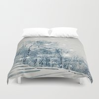outdoor Duvet Covers featuring Outdoor Theater by Artist pIL