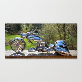"""""""The Bagger"""" Spoon Motorcycle ~ Left Side Canvas Print"""