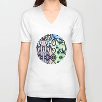 bikes V-neck T-shirts featuring Bikes by JustinPotts