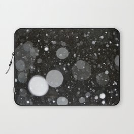 Light in the Dark-Photo of light colored circles on a dark surface Laptop Sleeve