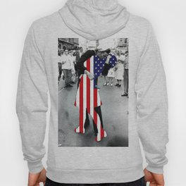 American Woman Acrylic World War 2 Kissing Kiss War Is Over Times Square New York Gift Idea Apparel Hoody