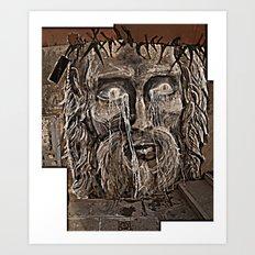 Graffiti jesus Art Print