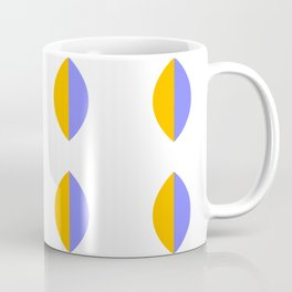 Leaf minimal modernist pattern - purple and yellow Coffee Mug