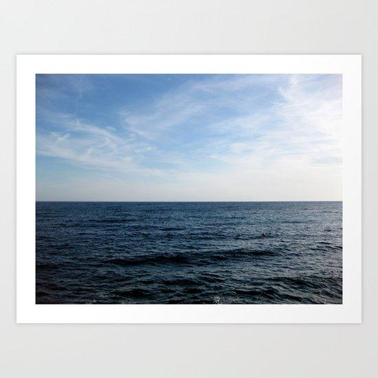 Mediterranean Sea on the Côte d'Azur French Rivera Art Print