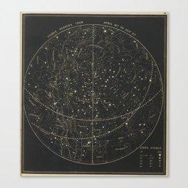 Vintage Astronomical & Celestial Map (1850) Canvas Print