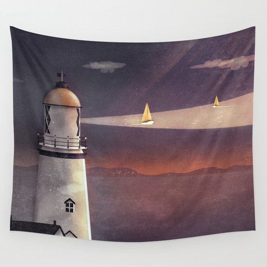 Sea of Light Wall Tapestry