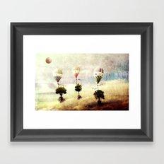 tree - air baloon Framed Art Print