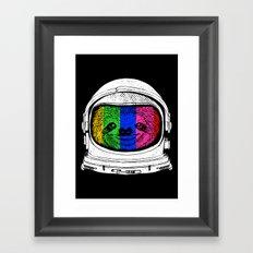 Astronaut Sloth Framed Art Print