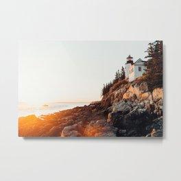 Solitude At Bass Harbor Metal Print