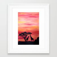 africa Framed Art Prints featuring Africa by Monica Georg-Buller