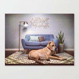 Big Boy Little Couch Canvas Print