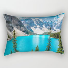 Moraine Lake Landscape Rectangular Pillow