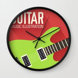 Electric Guitar Poster Wall Clock
