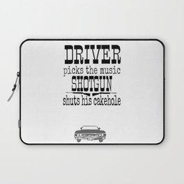 Driver picks music Laptop Sleeve