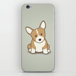 Welsh Corgi Puppy Illustration iPhone Skin