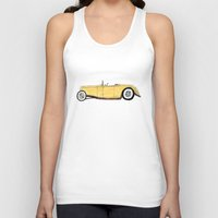 gatsby Tank Tops featuring Great Gatsby Yellow Roadster by JasonKoons