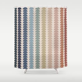 Maude Pattern- Vintage Multicolor Shower Curtain