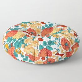 Vintage flower garden Floor Pillow