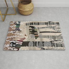 Forest in Sweater Rug