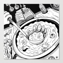The Tale of the Gruesome Gourmets Canvas Print