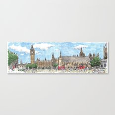 parliament square, london Canvas Print